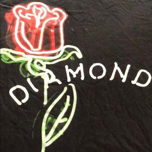 Men's Diamond t-shirt with rose Size M